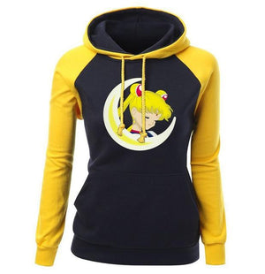 2017 New Arrival Autumn Winter Hoodies For Women Print Sailor Moon Branduotelab-uotelab