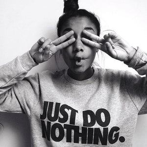 2016 Autumn and Winter JUST DO NOTHING Letter brand women longuotelab-uotelab