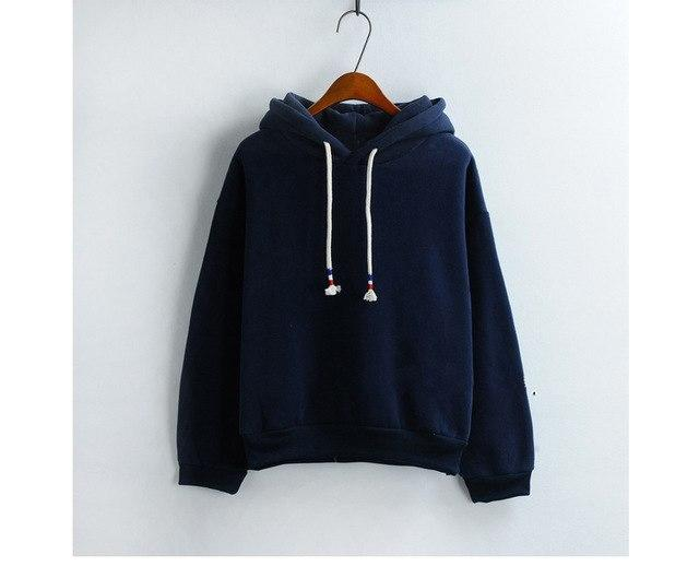 Women Hoodies Sweatshirts New Hot Sale Candy 10 Color Long Sleeved Thickuotelab-uotelab