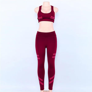 Solid Colors Women Sporting Sets 2 Piece Suits Workout Slimming Leggings Anduotelab-uotelab