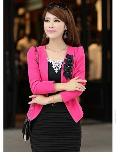 PEONLFY women blazers and jackets Plus Size 5XL Ladies Suit Blazers Femininouotelab-uotelab