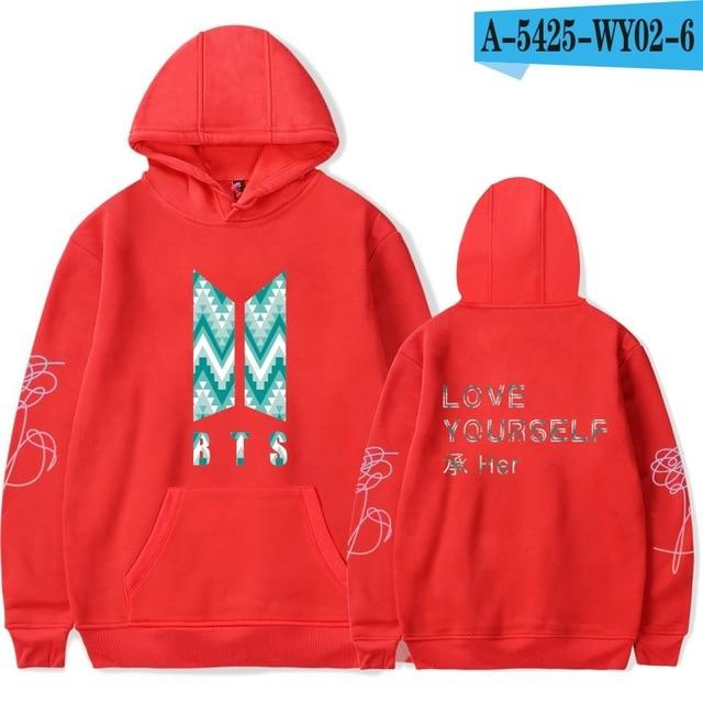 LOVE YOURSELF BTS Kpop Harajuku Sweatshirt Bangtan Boys Fashion Hoodies Women/menuotelab-uotelab