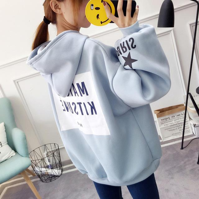 Women Hoodies Sweatshirts Pullovers Korean Long Sleeve Winter Hoodies Female sudadera mujeruotelab-uotelab
