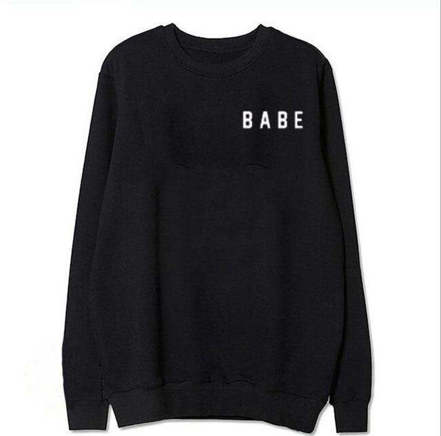 2016New arrvials Ivy park Hoodies Babe Letter printed Black Bts Exo Fashionuotelab-uotelab