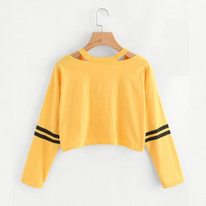 Popular Womens Clothes Long Sleeve Sweatshirt V Neck Causal Tops Blouse Beautifuluotelab-uotelab