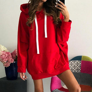 Oversized Hoodies 2017 Autumn Winter Womens Long Sleeve Hooded Pullover Loose Casualuotelab-uotelab