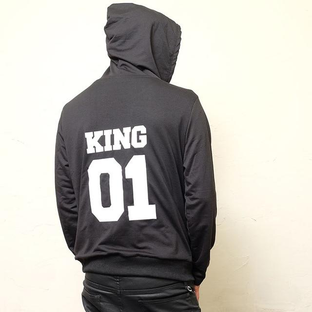 2018 Autumn Winter Couple Hoodies KING Queen Princess Prince Print funnyuotelab-uotelab