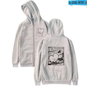 2017 BTS Kpop Love Yourself Zipper Hoodies Sweatshirt Women/Men BTSuotelab-uotelab