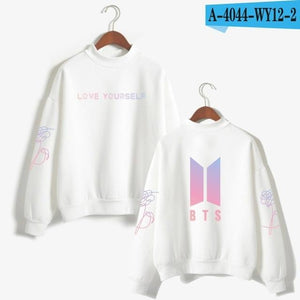 BTS Love Yourself Kpop Women Turtleneck Hoodie Sweatshirt Hoodies Streetwear Hip-Hop Bangtanuotelab-uotelab