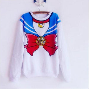 The new 2018 Sailor Moon shirt Harajuku kawaii cute fake imitation topuotelab-uotelab