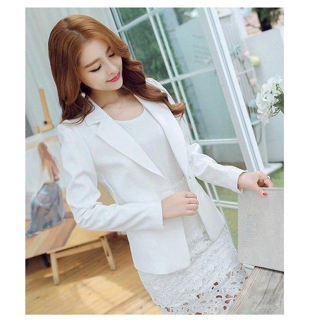 White Blazer 2018 New Long-sleeved Slim Women Blazers And Jackets Small Suituotelab-uotelab