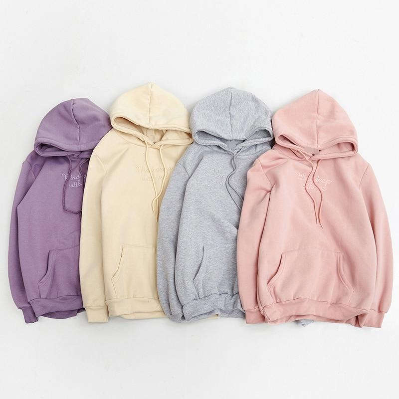 hoodies women autumn 2018 winter korean style cute hoodie women kawaii clothesuotelab-uotelab