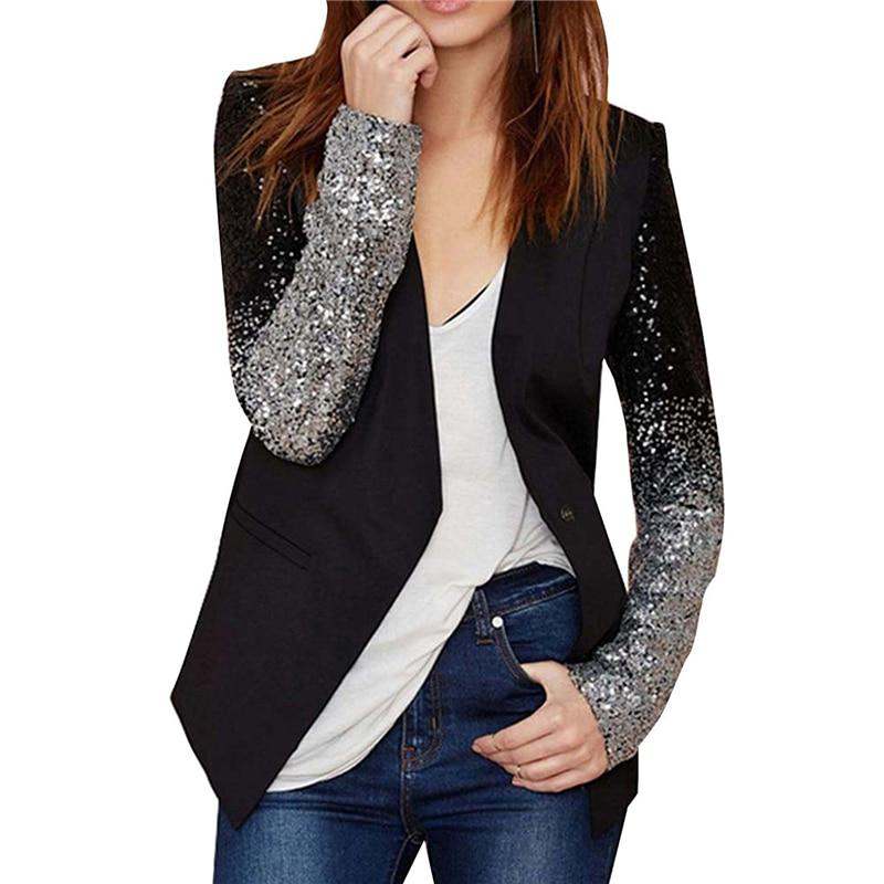 Women Blazer Women Long Sleeved Slim Jacket Female Ol Black Springuotelab-uotelab