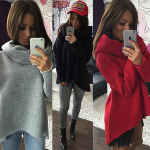 Women Christmas Clothes Winter Autumn Hoodies Scarf Collar Long Sleeve Fashionuotelab-uotelab