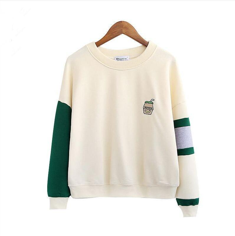 Fall new style college wind embroidery patchwork o-neck Long sleeves Sweatshirtsuotelab-uotelab