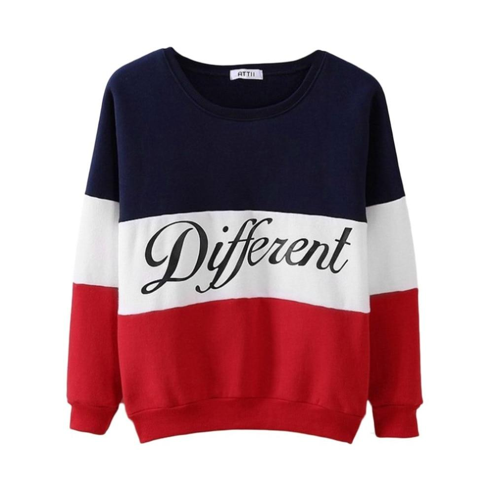 Fashion Letter Different Printed Women Fleeve Hoodies 2018 Spring Long Sleeve Sweatshirtuotelab-uotelab