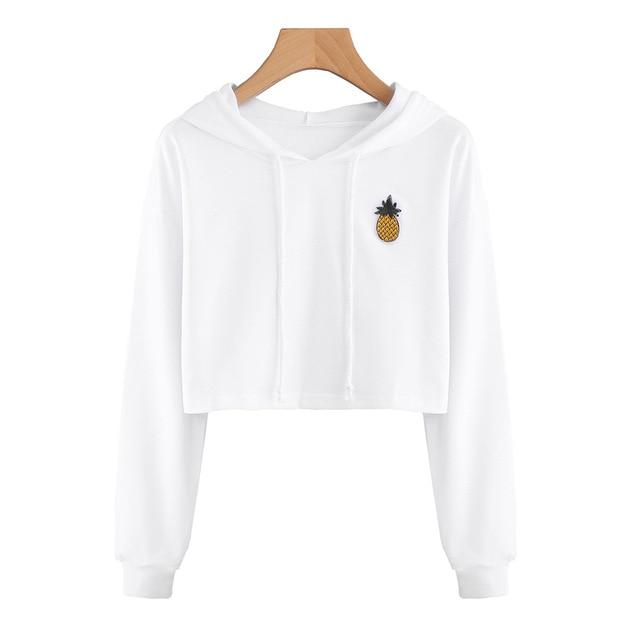 Women Sexy Short Sweatshirt Hoodies Long Sleeve Pullovers Tops Hoody Sweatshirt Foruotelab-uotelab