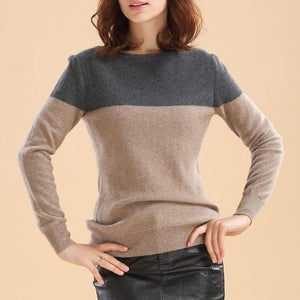 Spring and Autumn New Women Cashmere Sweater Round Neck Wool Blenduotelab-uotelab