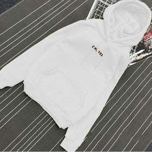 OH YES2017 New Fashion Corduroy Long sleeves Letter Harajuku Print Girl Lightuotelab-uotelab