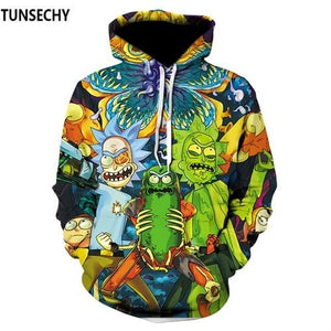 Harajuku Anime Cartoon Hoodies Adventure Time/Totoro/Pokemon Kawaii Clothes 3D Hooded Sweatshirt Sudaderasuotelab-uotelab