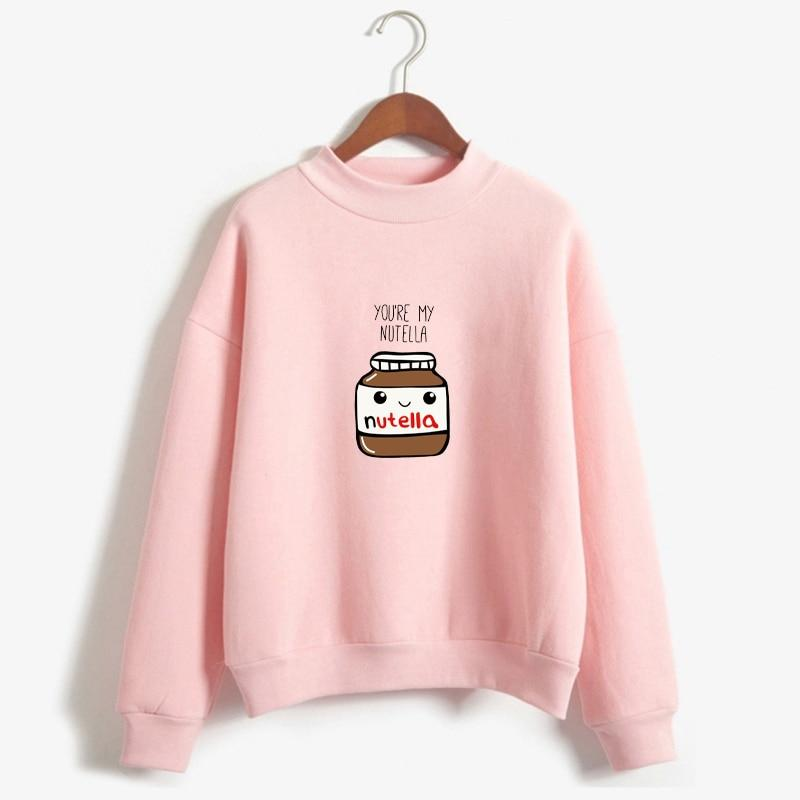 New Women Harajuku Hoodies Korean Fashion BTS You Are My Nutella Printeduotelab-uotelab