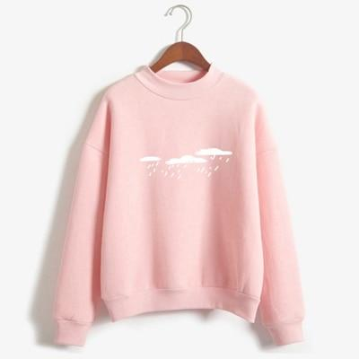 New 2018 Hoody Spring Autumn Long Sleeve Casual Harajuku Pink Sweatshirt Womenuotelab-uotelab