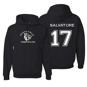 Mystic Falls Timberwolves Vampire Diaries Salvatore 17 Hoodie Women Men Long Sleeveuotelab-uotelab
