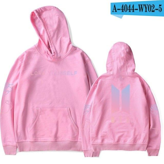 BTS Love Yourself Kpop Hoodies for women Sweatshirt Korean Harajuku Hoodie Ladiesuotelab-uotelab