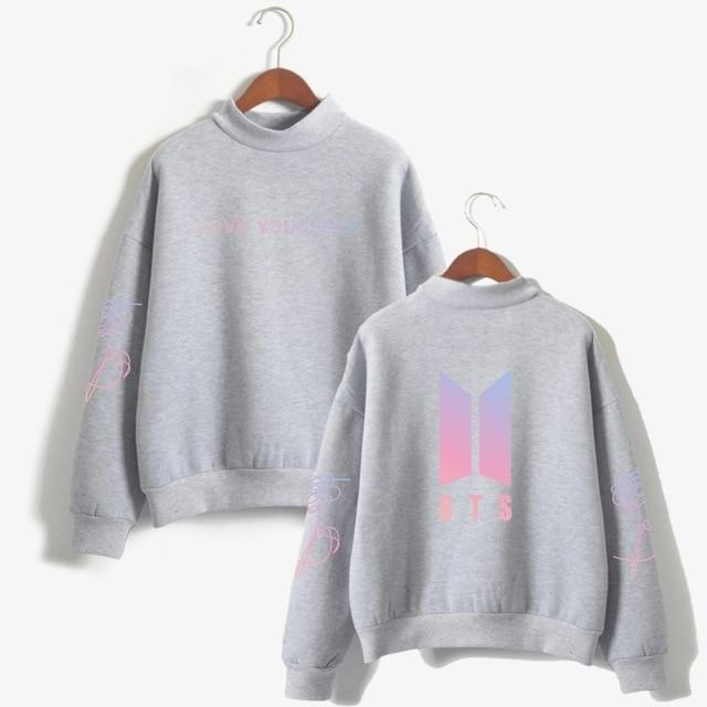 drop shipping BTS Love Yourself k pop Women Hoodies Sweatshirts Hoodiesuotelab-uotelab