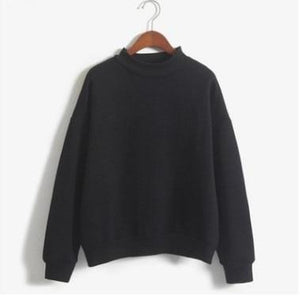 Autumn Winter Turtleneck Leisure Large Size Women's Pullover Loose Thickuotelab-uotelab