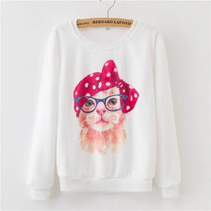 Women Hoodies 2018 Autumn Winter Sweatshirts Cartoon Kawaii Pink Unicorn Print Fleeceuotelab-uotelab