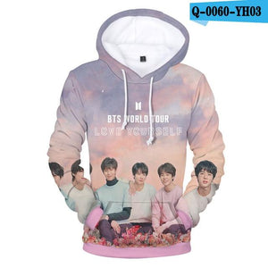 New Album LOVE YOURSELF Turn Tear 3D Print Casual Looseuotelab-uotelab