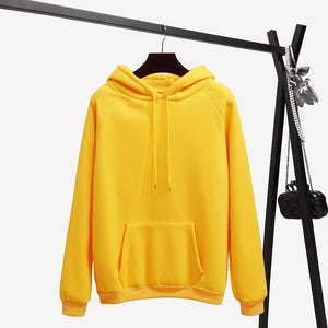 Autumn And Winter Yellow Long Sleeve Hooded Casual Hoodie 2018 New Fashionuotelab-uotelab