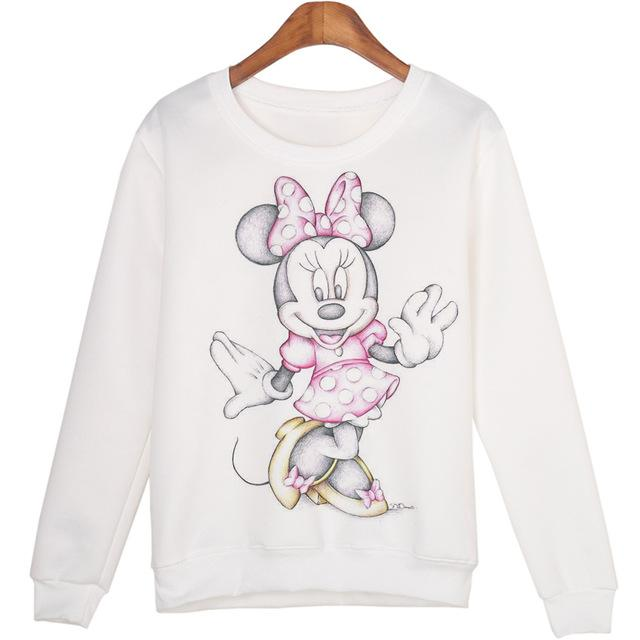 Cute Animal Sweatshirts Sudaderas mujer Harajuku Pullovers Tops Winter Warmuotelab-uotelab