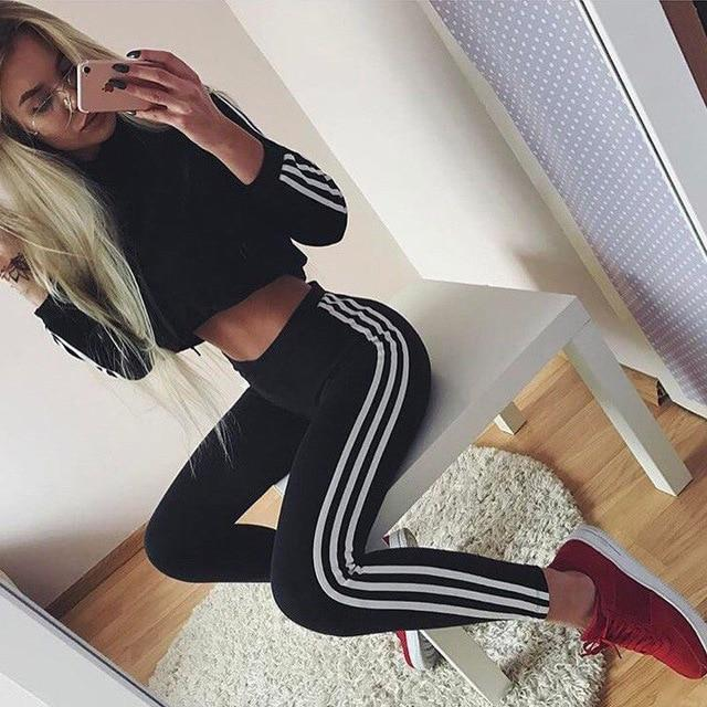 New Fashion 2Pcs Women Ladies Clothing Sets Tracksuit Hoodies Sweatshirt Pants Setsuotelab-uotelab