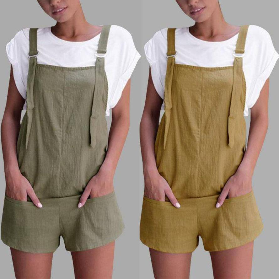 2018 summer womens romper Loose Dungarees Loose Rompers Jumpsuit Shorts Pants Trousersuotelab-uotelab