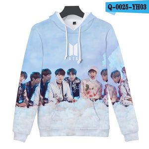 3D Print Bangtan Boys Love Yourself Winter Autumn Women Hoodies Sweatshirtuotelab-uotelab