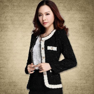 2018 Blazer Women Paillette Formal Blaser Coats and Jacket for Woman Workuotelab-uotelab