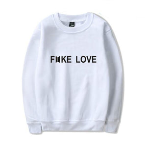 2018 BTS Harajuku Fashion Hoodies women Kpop Fake Love Clothes Pullovers uotelab-uotelab