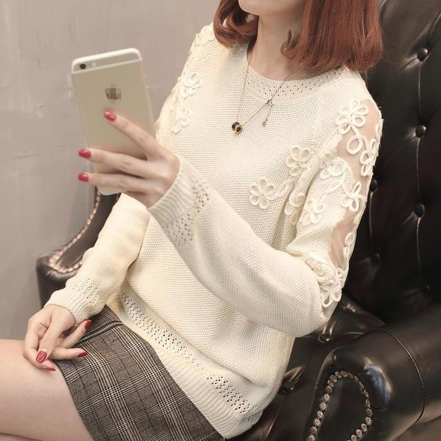 2018 New Spring Autumn Sweater Pullover Fashion Long Sleeve Plus Size Looseuotelab-uotelab