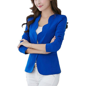 Women's Blazer Long Sleeve One Button Blazer OL Jacket Coats Slim Shirtsuotelab-uotelab