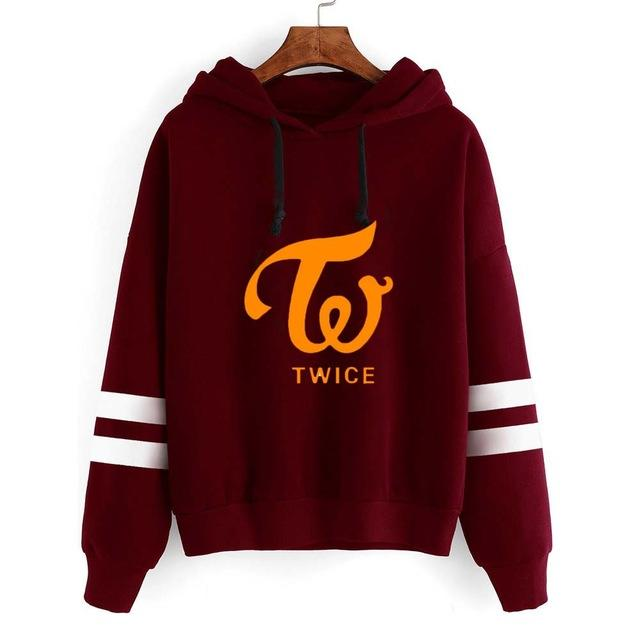 New Korean Style Kawaii Clothing Sweatshirts for Girls Twice Bts Fake Loveuotelab-uotelab