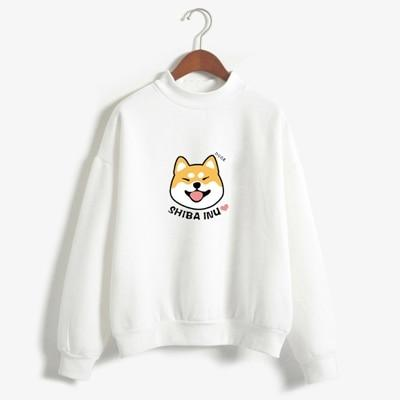 Women Harajuku Hoodies Fleece Autumn Kawaii Cute Japanese Anime Shiba Innu Pulloveruotelab-uotelab