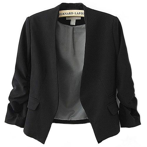 Fashion Women's Blazer Jacket Korea Style Candy Color Solid Slim Suituotelab-uotelab