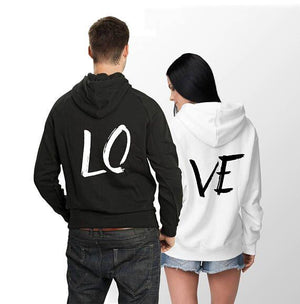 Oversize Women and Men Streetwear LO VE Letter Print Sweatshirts Hooded Looseuotelab-uotelab