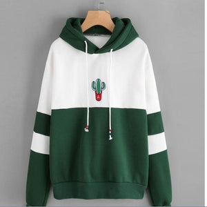 2018 Girls New Fashion Casual Print Patchwork Hoodies Pullover Spring/Autumn Hoodies Topsuotelab-uotelab