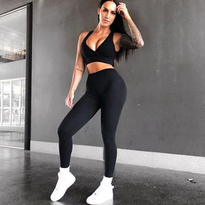 New Solid Fitness Suit Women 2 Piece Set Fitness Clothing Sportswear Setuotelab-uotelab