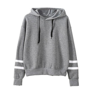Causal Autumn Hooded Pullover Striped Sweatshirt Women Long Sleeve Pullover Streetwear Fleeceuotelab-uotelab