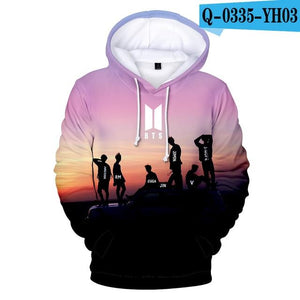 New BTS Bangtan Boys Hoodies Hooded Sweatshirts 3D Printed JUNG KOOK JHOPEuotelab-uotelab