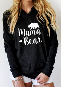 Autumn Hoodies Women Sweatshirts Long Sleeve harajuku Pullovers Hoodie MAMA Heart BEARuotelab-uotelab